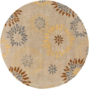 Athena Pussywillow Gray and Frappe Round: 8 Ft. Rug