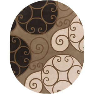 Athena Brindle and Parchment Oval: 8 Ft. x 10 Ft. Rug