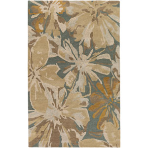 Athena Neutral and Brown Rectangular: 2 Ft x 3 Ft Rug