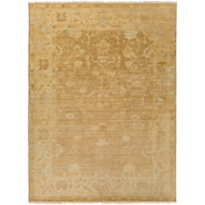 Antique Gold and Beige Rectangular: 2 Ft x 3 Ft Rug