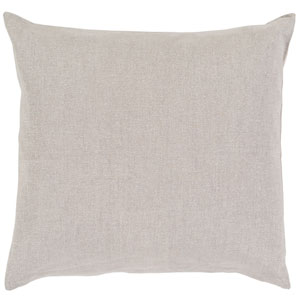Audrey Light Gray and Silver 20 x 20-Inch Pillow Cover