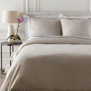 Audrey Light Gray Three-Piece Full/Queen Duvet Set