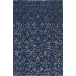Avignon Navy and Slate Rectangular: 2 Ft x 3 Ft Rug