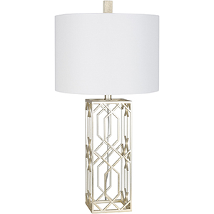Alyssia Antiqued Silver Finish One-Light Table Lamp