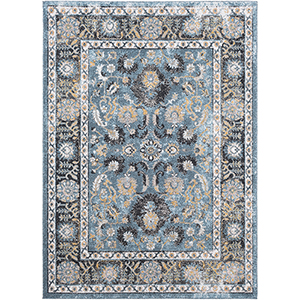 Azul Aqua Rectangular: 5 Ft. 3 In. x 7 Ft. 3 In. Rug