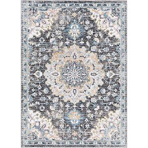 Azul Grey and Aqua Rectangular: 2 Ft. x 3 Ft. Rug