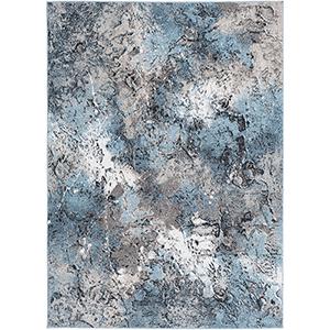 Azul Aqua and Grey Rectangular: 2 Ft. x 3 Ft. Rug