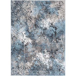 Azul Aqua and Grey Rectangular: 5 Ft. 3 In. x 7 Ft. 3 In. Rug