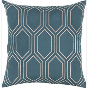Skyline Teal 18-Inch Pillow with Poly Fill