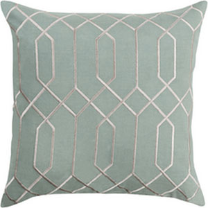 Skyline Moss 18-Inch Pillow with Down Fill