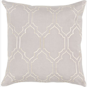 Skyline Trellis Light Gray 18-Inch Pillow with Poly Fill