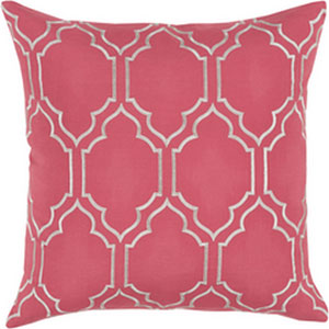 Skyline Trellis Carnation 20-Inch Pillow with Down Fill