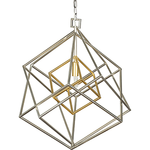 Blair Silver and Gold One-Light Pendant