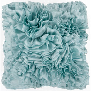 Blue Haze Ruffle 18 x 18 Pillow