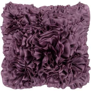Grape Ruffle 18 x 18 Pillow