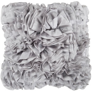 Flint Gray Ruffle 18 x 18 Pillow