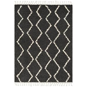 Berber Shag Charcoal Rectangular: 5 Ft. 3 In. x 7 Ft. 3 In. Rug