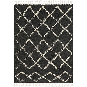 Berber Shag Charcoal Rectangular: 3 Ft. 11 In. x 5 Ft. 7 In. Rug