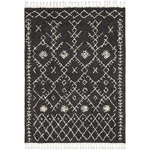 Berber Shag Charcoal Rectangular: 9 Ft. 2 In. x 12 Ft. Rug