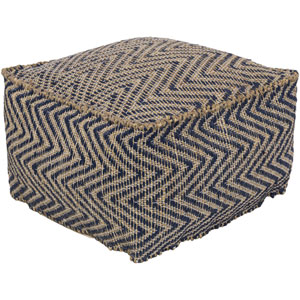 Bodega Navy and Khaki Pouf
