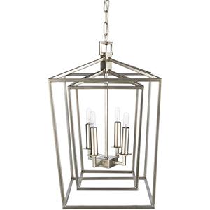 Bellair Silver 14-Inch Four-Light Lantern Pendant