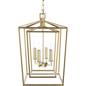Bellair Gold 14-Inch Four-Light Lantern Pendant