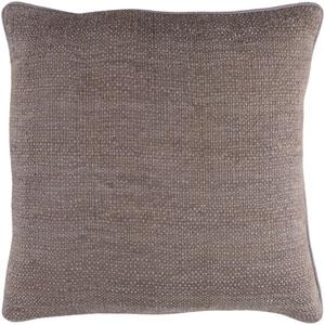Bihar Medium Gray 18 x 18-Inch Pillow Cover