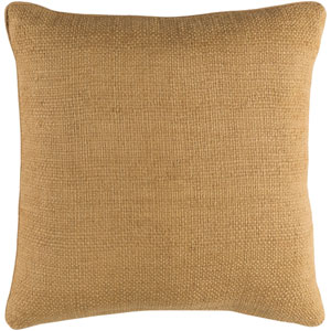 Bihar Neutral 20 x 20-Inch Throw Pillow with Down Fill