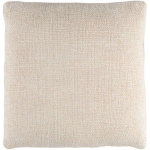 Bihar Neutral 18 x 18-Inch Throw Pillow with Down Fill