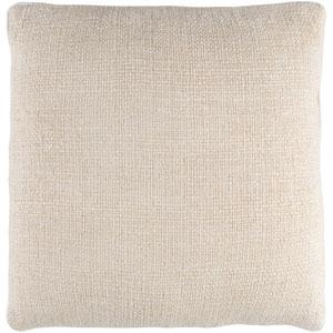 Bihar Neutral 20 x 20-Inch Throw Pillow with Down Fill
