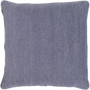 Bihar Blue 18 x 18-Inch Throw Pillow with Poly Fill