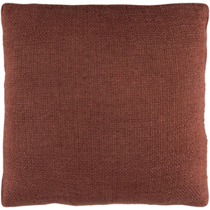 Bihar Brown 18 x 18-Inch Throw Pillow with Poly Fill