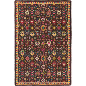 Bukhara Black and Red Rectangular: 5 Ft. 3-Inch x 7 Ft. 6-Inch Rug