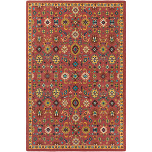 Bukhara Red and Yellow Rectangular: 2 Ft. x 2 Ft. 9-Inch Rug