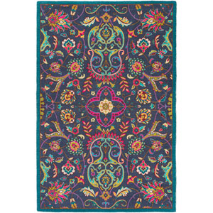 Bukhara Blue Rectangular: 5 Ft. 3-Inch x 7 Ft. 6-Inch Rug