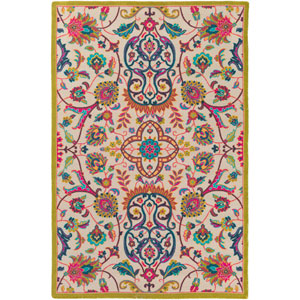 Bukhara Neutral and Green Rectangular: 5 Ft. 3-Inch x 7 Ft. 6-Inch Rug