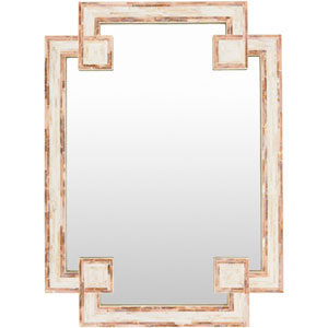 Banks Ivory and Beige Mirror
