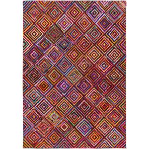 Boho Multicolor Rectangular: 2 Ft x 3 Ft Rug
