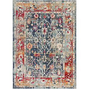 Bohemian Navy Rectangular: 7 Ft. 10 In. x 10 Ft. 3 In. Rug