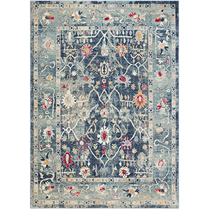 Bohemian Teal Rectangular: 7 Ft. 10 In. x 10 Ft. 3 In. Rug