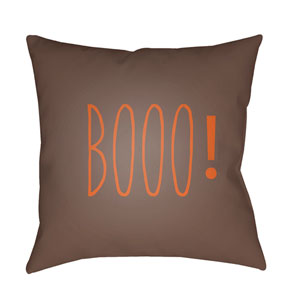 Brown Boo 18-Inch Throw Pillow with Poly Fill
