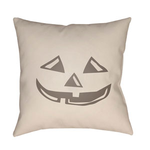 Beige Boo 20-Inch Throw Pillow with Poly Fill