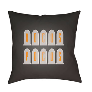 Dark Gray Boo 20-Inch Throw Pillow with Poly Fill