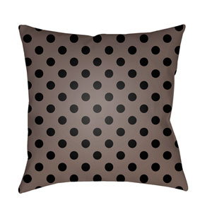 Black Boo 18-Inch Throw Pillow with Poly Fill