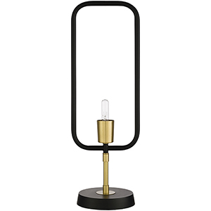Bowie Black and Brass One-Light Table Lamp