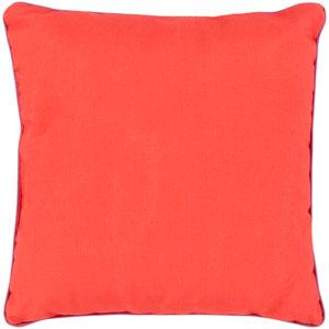 Bahari Orange and Purple 16 x 16-Inch Pillow