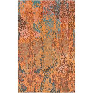 Brocade Rust and Mocha Rectangular: 2 Ft x 3 Ft Rug