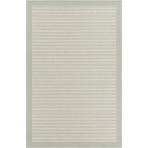Breeze Sea Foam and Ivory Indoor/Outdoor Rectangular: 2 Ft. x 3 Ft. Rug