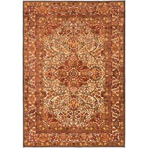 Basilica Feather Gray and Dark Brown Rectangular: 5 Ft. 2 In. x 7 Ft. 6 In. Rug