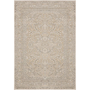 Basilica Camel and Parchment Rectangular: 5 Ft. 2 In. x 7 Ft. 6 In. Rug